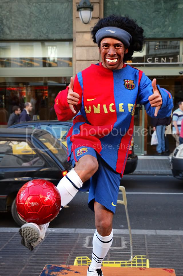 Ronaldinho Wears a Smile