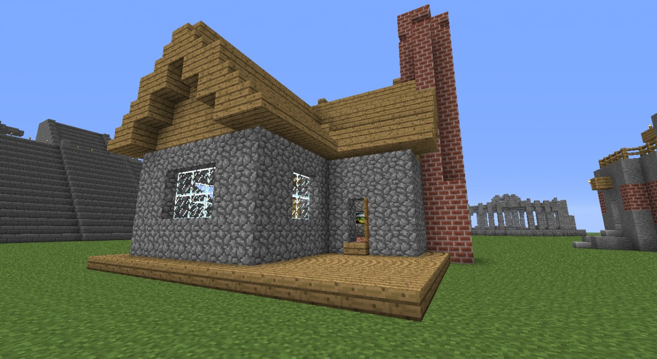 Small Stone Timber House Minecraft Project