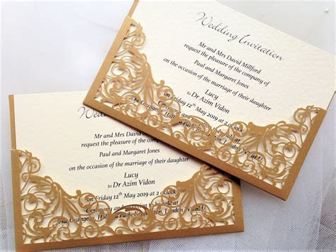 Gold Wedding Invitations   Gold Wedding Invites
