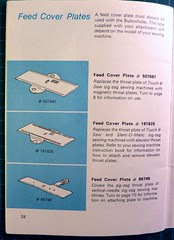 03 - Buttonholer, Feed Cover Plate Models
