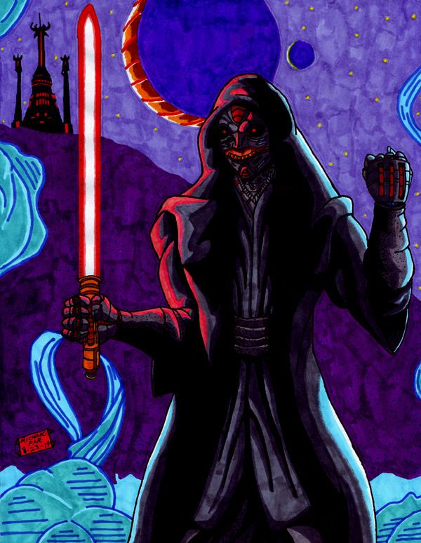 My own drawing of the Sith Inquisitor...who may or may not be in STAR WARS: EPISODE VII.
