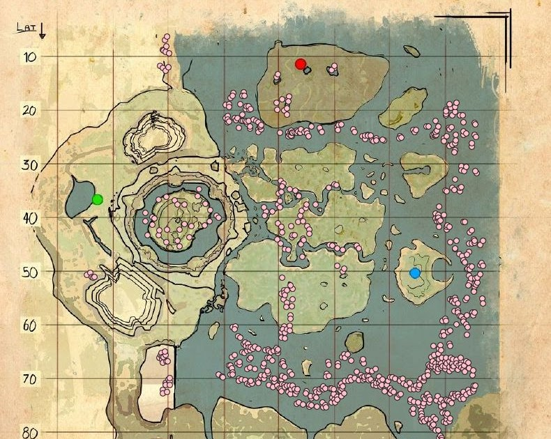 34 Ark Scorched Earth Spawn Map