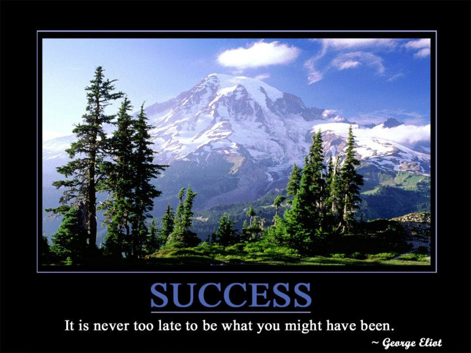 It Is Never Too Late To Be What You Might Have Been George Eliot