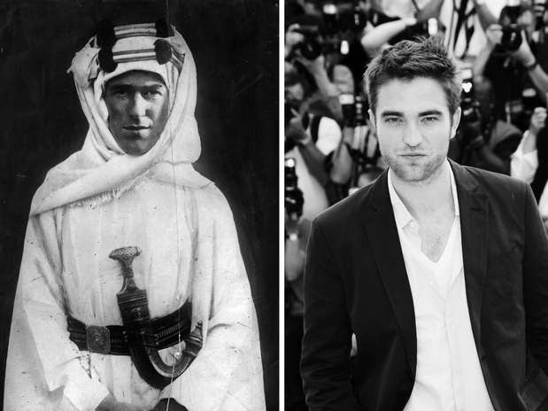 Robert Pattinson y Thomas Edward Lawrence (Lawrence de Arabia) Foto: Getty Images
