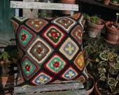 Diamant: Vintage cushion, granny squares - gipsyplaid