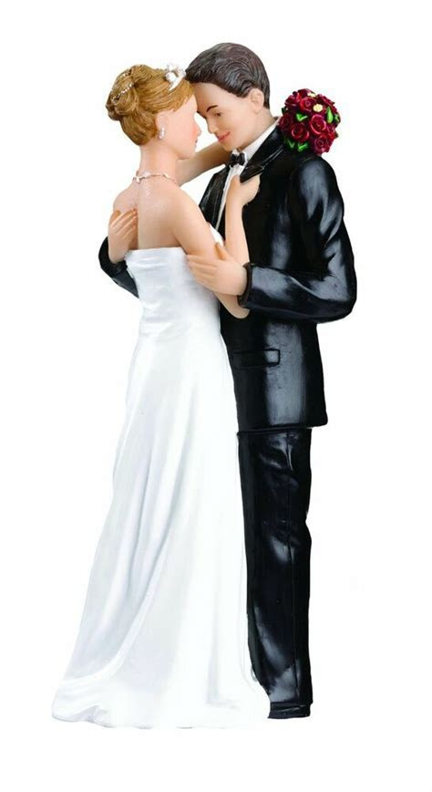 Wedding Cake Topper Couple Figurine Romantic Love Bride