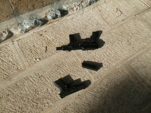 Guns used in the Temple Mount terror attack. July 14, 2017