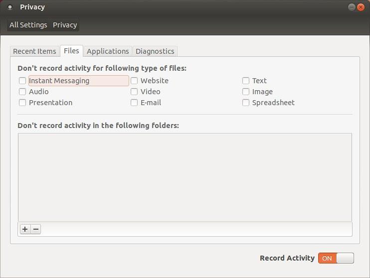 Ubuntu privacy