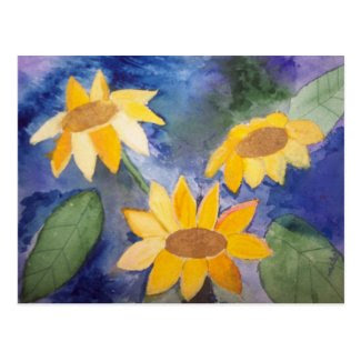 The Sunflowers Postcard