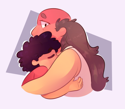 Anonymous said: For the draw characters in a pose prompt: Steven and Greg Universe in B1. Answer: They are adorable
