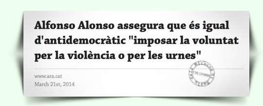 Paraules Alfonso Alonso