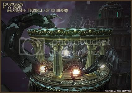 Postcards of Azeroth: Temple of Wisdom, by Rioriel Ail'thera