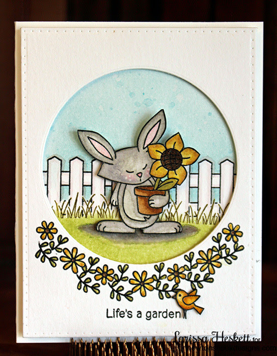 "Bunny ""Life's a Garden"" Card 