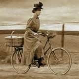 witch riding her bike