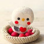 Addobbo natalizio uccellino in feltro Cartamodello
