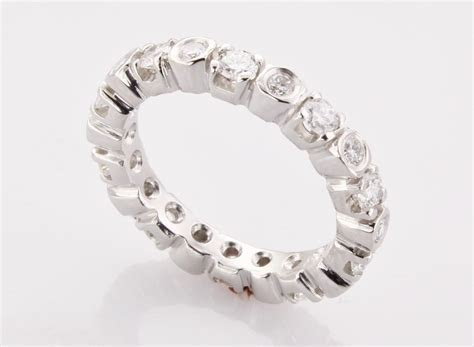 Women?s Platinum Eternity Band   Made in Boston MA