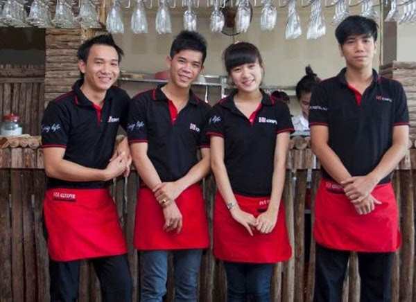áo phục vụ cafe