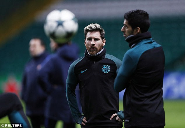 Argentine Messi looked particularly displeased with the chilly November temperatures