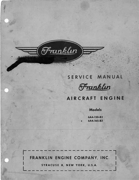 Franklin aircraft engine service manual - Download Manuals