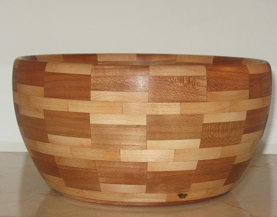Walnut and Maple Segmented Bowl - HKWoodDesigns