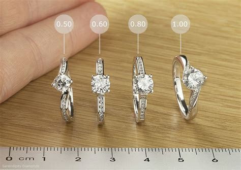 Engagement rings   diamond sizes compared. We have