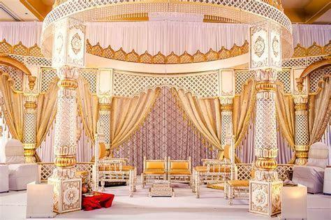 Soma Sengupta Indian Wedding Decorations  White & Gold