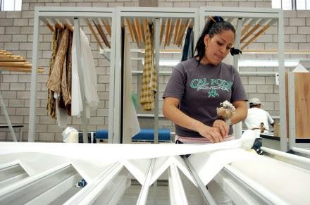 Una maquiladora de cortinas en Tijuana. Foto: Octavio Gómez