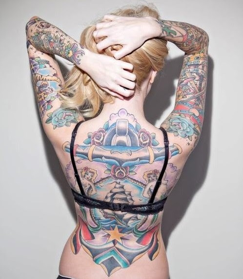 Cool Full Back Body Tattoos For Girls Tattoomagz