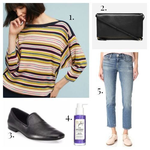 Moth Sweater - Everlane Handbag - Vince Shoes - Orlando Pita Hair Serum - AMO Jeans