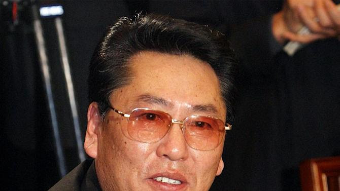 This file photo taken on March 3, 2004 shows Choe Yong-gon during a meeting with his counterparts in Seoul