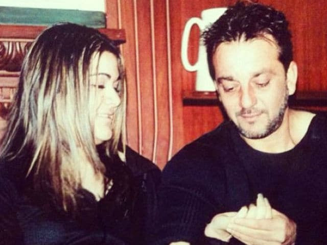 Image result for latest image sanjay dutt with their trishala daughter