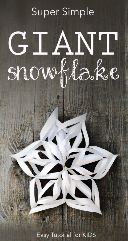 {3D Snowflakes Tutorial} Winter craft your kids can do solo. Easy DIY holiday decorating. *So cool