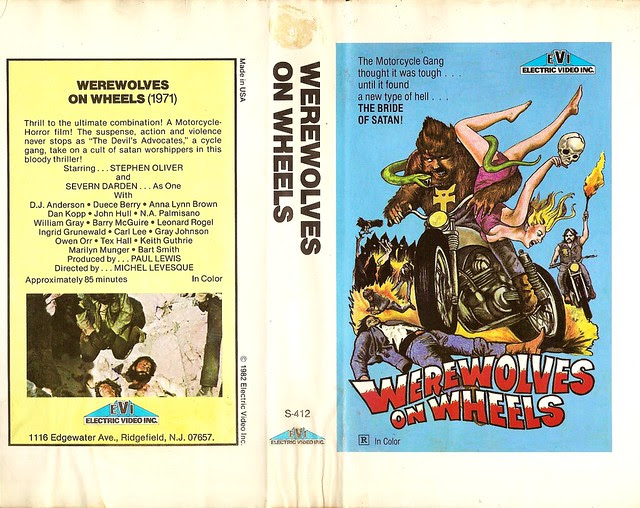 Werewolves On Wheels 1 (VHS Box Art)