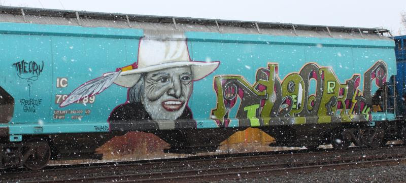 Willie Nelson graffiti