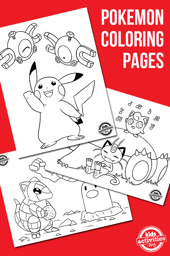 Free Pokemon Coloring Pages | Kids Activities Blog ...