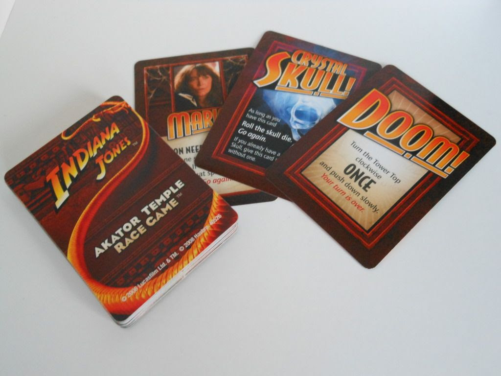 Indiana Jones Akator Temple Race Game cards