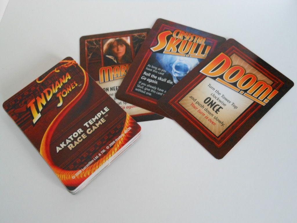 Indiana Jones Akator Temple Race Game cards