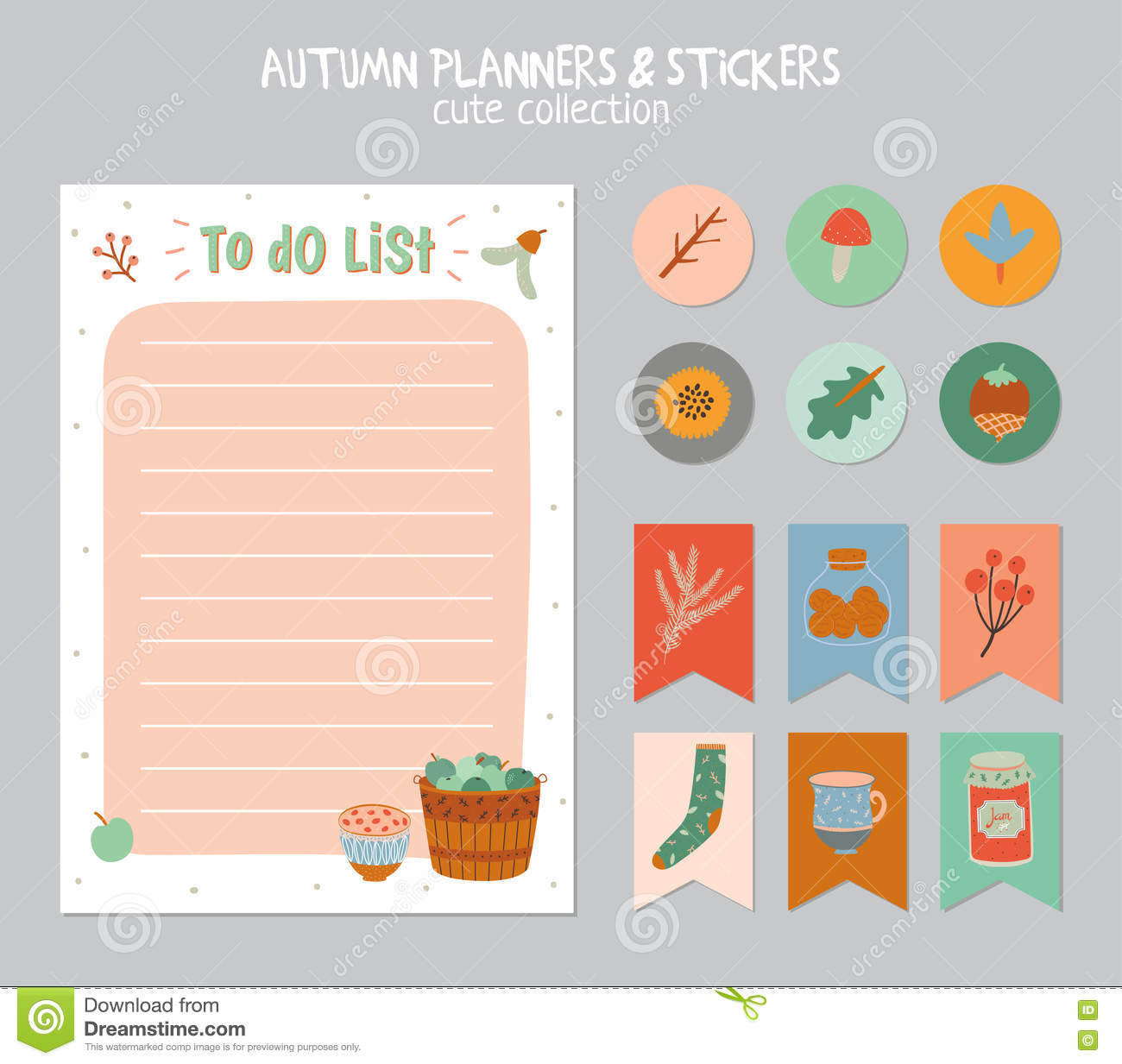 Cute Daily Calendar And To Do List Template Stock Vector - Image ...