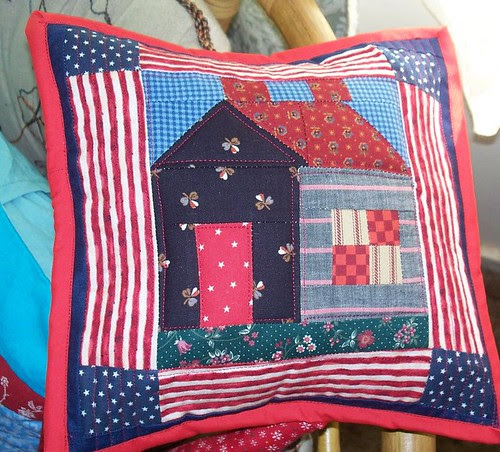 patriotic house pillow