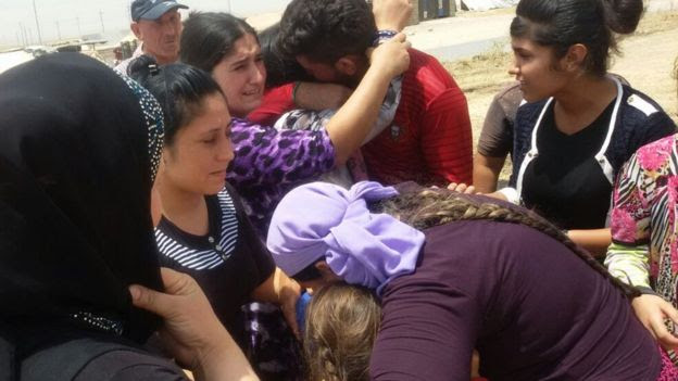 Yazidi women and children released by Islamic State