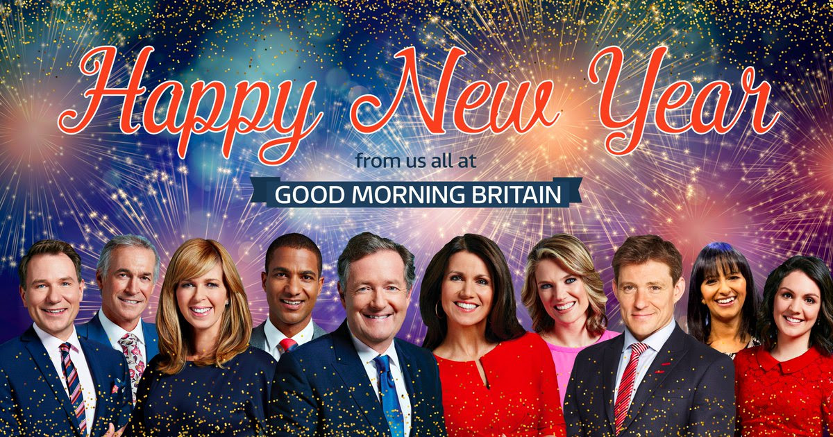 Happy New Year From All Of Us At Good Morning Britain Scoopnestcom
