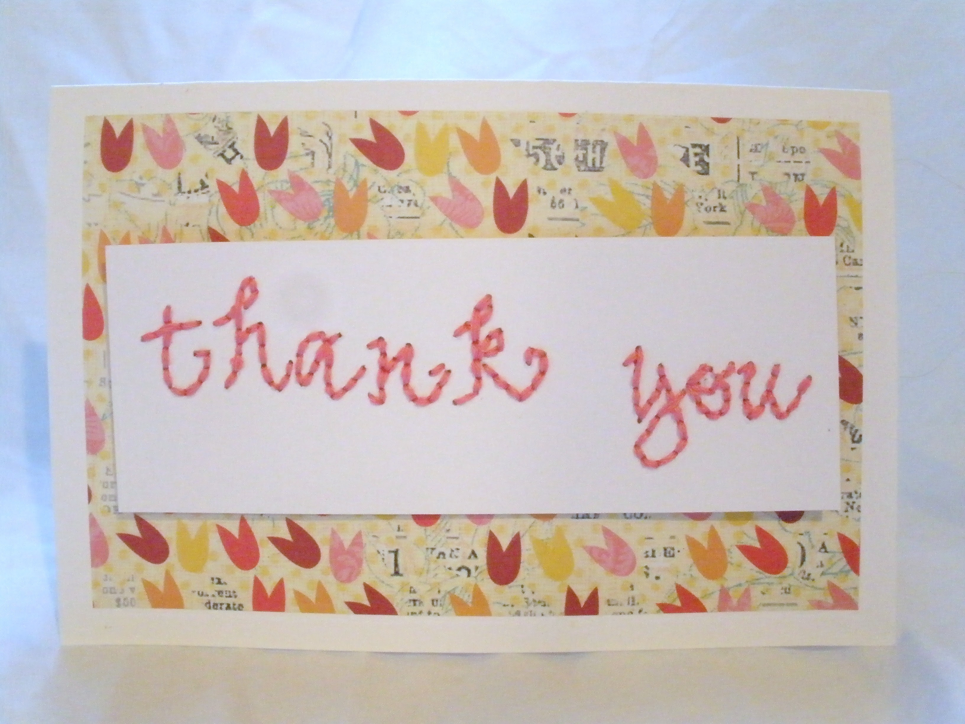 Embroidered Thank You