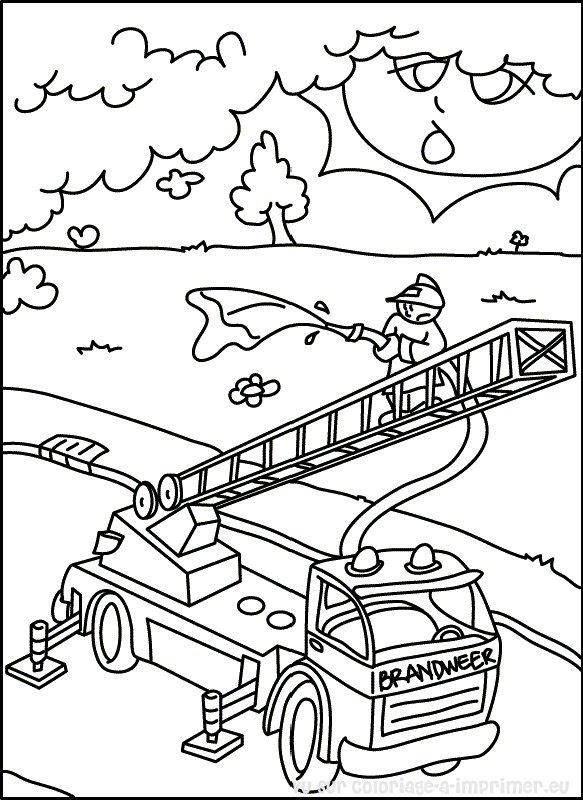Coloriage à Imprimer Coloriage Pompier 000