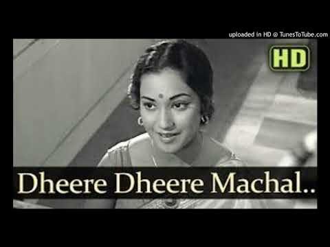 Dheere dheere machal e dil - e - bekarar Hindi lyrics pdf 1966 Anupama