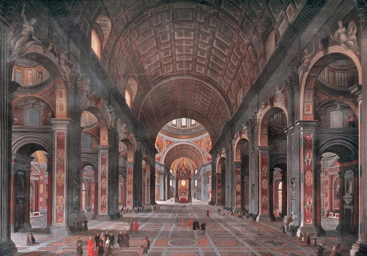 Interior Of St.Peter's Rome
