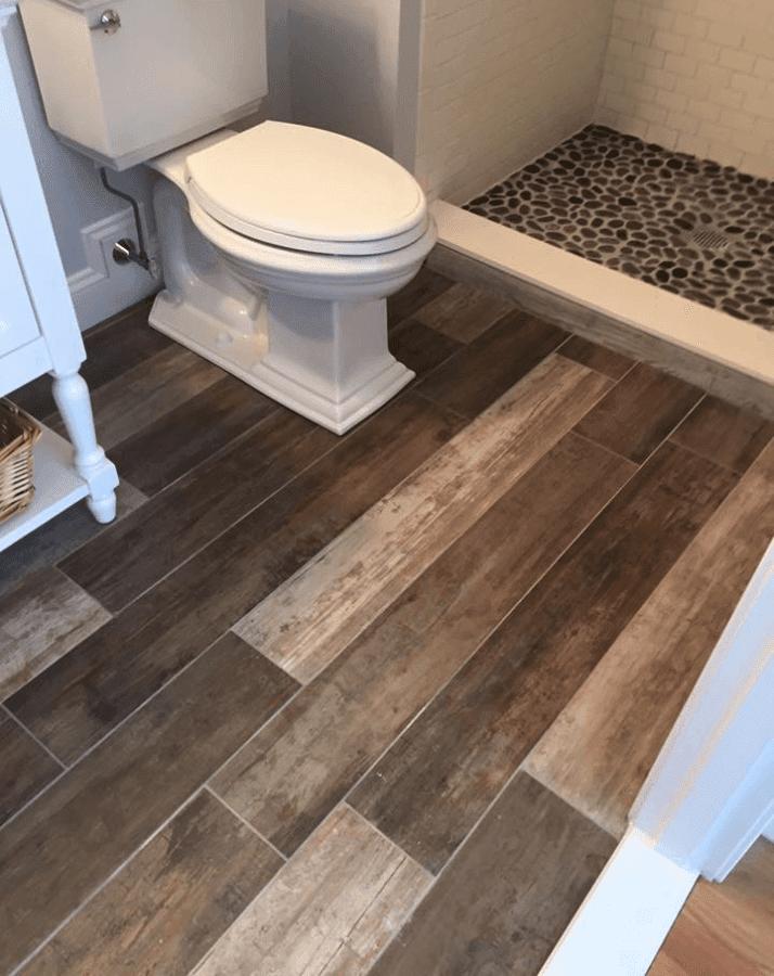 Hardwood-look Tile Bathroom Featured Renovation - South ...