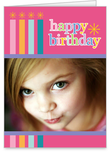 Birthday Candles Pink 5x7 Greeting Card | Birthday Cards | Shutterfly