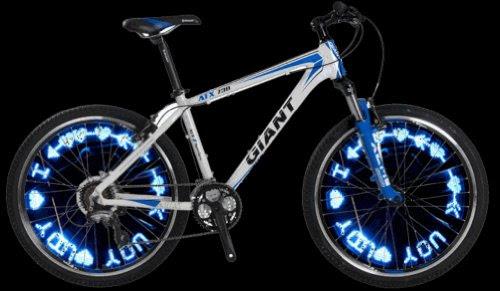視線を釘付け! 【 自転車 LED ホイールライト 】 イルミネーション センサーライト ロードバイク ロードレーサー