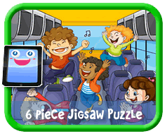 Kids on a Bus Online jigsaw puzzle for kids