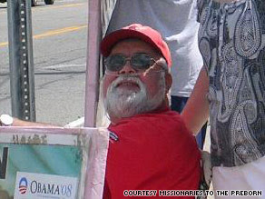 Activist Jim Pouillon was shot and killed Friday while protesting outside Owosso High School.